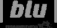Blu Logo der bruges i forbindelse referencer til lydstudiet